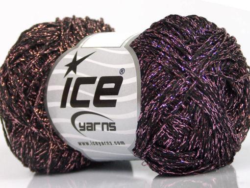 Lot of 8 Skeins Ice Yarns VISCOSA STELLA (75% Viscose) Yarn Black Light Pink