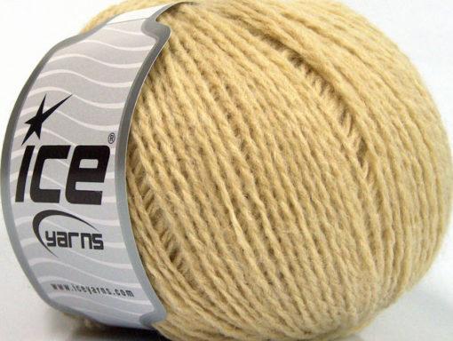 Lot of 8 Skeins Ice Yarns WOOL LIGHT (50% Wool) Hand Knitting Yarn Dark Cream