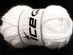 Lot of 2 x 200gr Skeins Ice Yarns ATLAS JUMBO Hand Knitting Yarn White
