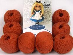 Lot of 8 Skeins Ice Yarns AMIGURUMI COTTON 25 (50% Cotton) Yarn Copper