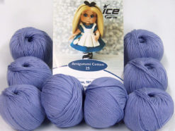 Lot of 8 Skeins Ice Yarns AMIGURUMI COTTON 25 (50% Cotton) Yarn Lilac