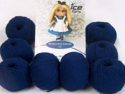 Lot of 8 Skeins Ice Yarns AMIGURUMI COTTON 25 (50% Cotton) Yarn Navy