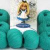 Lot of 8 Skeins Ice Yarns AMIGURUMI COTTON 25 (50% Cotton) Yarn Emerald Green