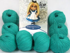 Lot of 8 Skeins Ice Yarns AMIGURUMI COTTON 25 (50% Cotton) Yarn Emerald Green