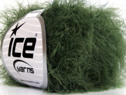 Lot of 8 Skeins Ice Yarns TECHNO Hand Knitting Yarn Dark Green