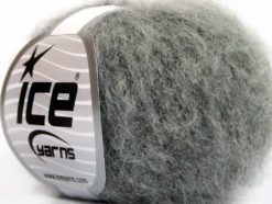 Lot of 10 Skeins Ice Yarns KID MOHAIR FINE (30% Kid Mohair) Yarn Grey