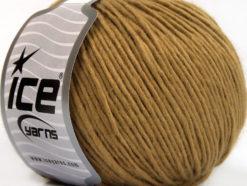 Lot of 8 Skeins Ice Yarns ACRYL CORD WORSTED Hand Knitting Yarn Light Camel