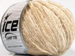 Lot of 8 Skeins Ice Yarns CHENILLE LIGHT (100% MicroFiber) Yarn Cream