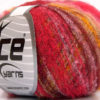 Lot of 10 Skeins Ice Yarns KID MOHAIR FLAMME (37% Kid Mohair) Yarn Pink Shades Gold
