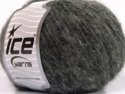 Lot of 8 Skeins Ice Yarns KEAN WOOL (44% Wool) Hand Knitting Yarn Grey