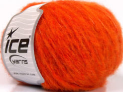 Lot of 8 Skeins Ice Yarns KEAN WOOL (44% Wool) Hand Knitting Yarn Orange