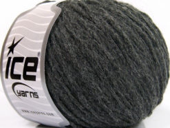 Lot of 8 Skeins Ice Yarns GRINTA LANA (50% Wool) Hand Knitting Yarn Dark Grey