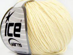 Lot of 8 Skeins Ice Yarns BABY SUMMER DK (50% Cotton) Hand Knitting Yarn Cream