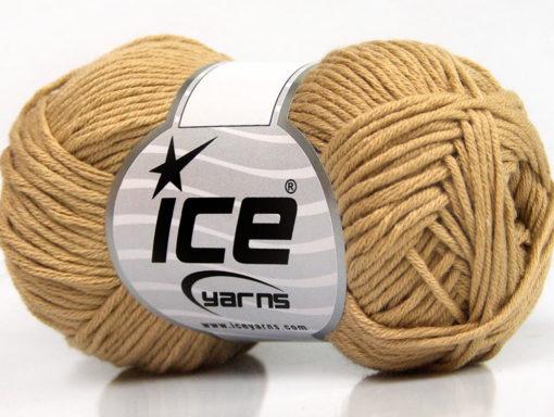 Lot of 8 Skeins Ice Yarns BABY SUMMER DK (50% Cotton) Yarn Light Brown