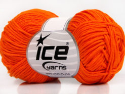 Lot of 8 Skeins Ice Yarns BABY SUMMER DK (50% Cotton) Yarn Dark Orange