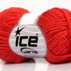 Lot of 8 Skeins Ice Yarns BABY SUMMER DK (50% Cotton) Yarn Tomato Red