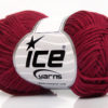 Lot of 8 Skeins Ice Yarns BABY SUMMER DK (50% Cotton) Yarn Burgundy