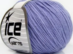 Lot of 8 Skeins Ice Yarns BABY SUMMER DK (50% Cotton) Hand Knitting Yarn Lilac