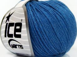 Lot of 8 Skeins Ice Yarns BABY SUMMER DK (50% Cotton) Yarn Jeans Blue