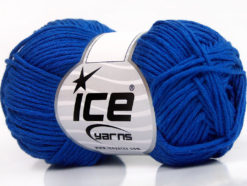 Lot of 8 Skeins Ice Yarns BABY SUMMER DK (50% Cotton) Hand Knitting Yarn Blue