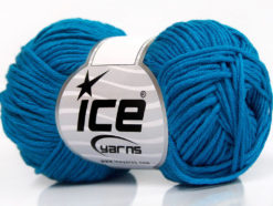Lot of 8 Skeins Ice Yarns BABY SUMMER DK (50% Cotton) Yarn Dark Turquoise