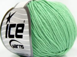 Lot of 8 Skeins Ice Yarns BABY SUMMER DK (50% Cotton) Yarn Mint Green