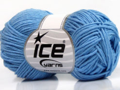 Lot of 8 Skeins Ice Yarns BABY SUMMER DK (50% Cotton) Yarn Light Blue