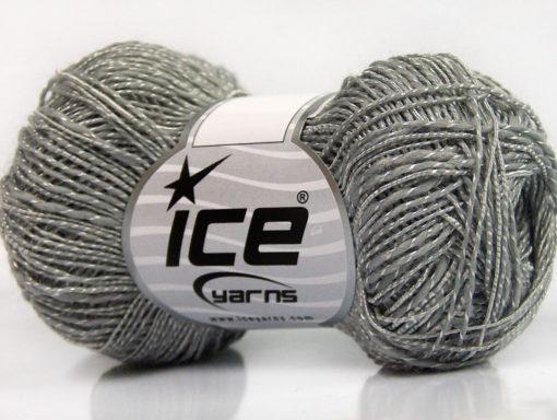 Lot of 8 Skeins Ice Yarns GINA VISCOSE (35% Viscose) Yarn Light Grey