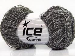 Lot of 8 Skeins Ice Yarns GINA VISCOSE (35% Viscose) Yarn Dark Grey