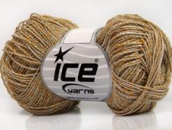 Lot of 8 Skeins Ice Yarns GINA VISCOSE (35% Viscose) Yarn Beige Gold