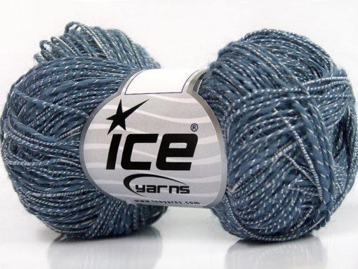 Lot of 8 Skeins Ice Yarns GINA VISCOSE (35% Viscose) Yarn Indigo Blue