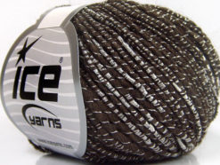 Lot of 8 Skeins Ice Yarns SHINE ALPACA (21% Alpaca 11% Wool) Yarn Brown