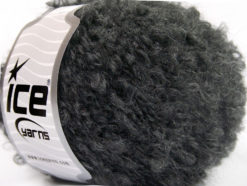 Lot of 8 Skeins Ice Yarns BOUCLE MOHAIR WORSTED (20% Mohair 25% Wool) Yarn Dark Grey