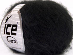 Lot of 10 Skeins Ice Yarns FREDDY WOOL (26% Wool 16% Viscose) Yarn Black