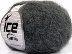 Lot of 10 Skeins Ice Yarns FREDDY WOOL (26% Wool 16% Viscose) Yarn Dark Grey