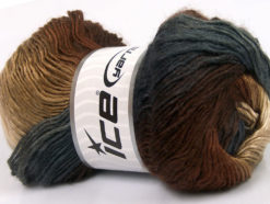 Lot of 4 x 100gr Skeins Ice Yarns RAINBOW Yarn Grey Shades Brown Shades