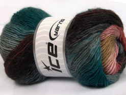 Lot of 4 x 100gr Skeins Ice Yarns RAINBOW Yarn Anthracite Black Teal Camel Pink Salmon