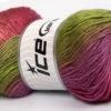 Lot of 4 x 100gr Skeins Ice Yarns RAINBOW Yarn Green Lilac Pink Shades Grey