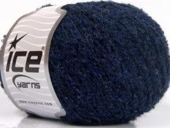 Lot of 8 Skeins Ice Yarns ALPACA BOUCLE FINE (25% Alpaca 25% Wool) Yarn Blue Melange