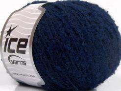Lot of 8 Skeins Ice Yarns ALPACA BOUCLE FINE (25% Alpaca 25% Wool) Yarn Dark Blue