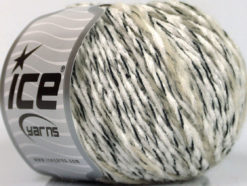 Lot of 8 Skeins Ice Yarns CHENILLE WOOL FLAMME (15% Wool) Yarn White Cream Black