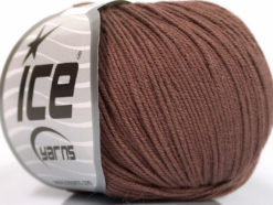 Lot of 8 Skeins Ice Yarns BABY SUMMER (60% Cotton) Hand Knitting Yarn Brown