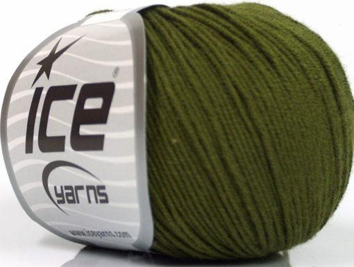 Lot of 8 Skeins Ice Yarns BABY SUMMER (60% Cotton) Yarn Dark Khaki