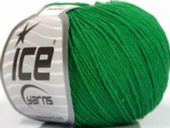 Lot of 8 Skeins Ice Yarns BABY SUMMER (60% Cotton) Hand Knitting Yarn Green
