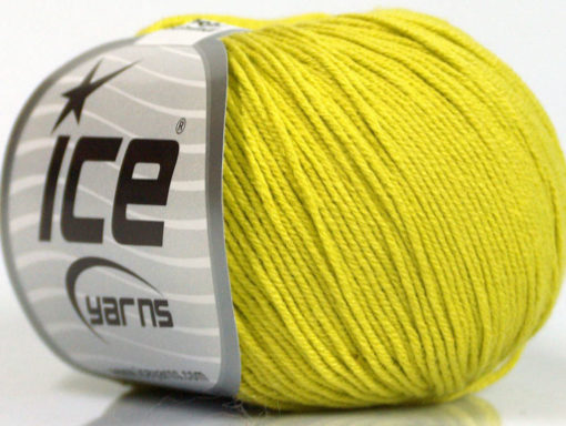 Lot of 8 Skeins Ice Yarns BABY SUMMER (60% Cotton) Yarn Light Olive Green