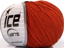 Lot of 4 Skeins Ice Yarns AMIGURUMI COTTON (60% Cotton) Yarn Marsala Red