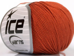 Lot of 4 Skeins Ice Yarns AMIGURUMI COTTON (60% Cotton) Yarn Copper