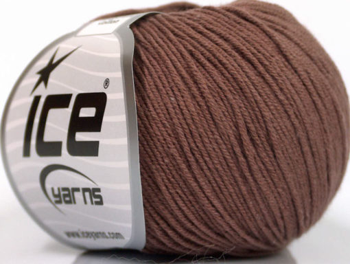Lot of 4 Skeins Ice Yarns AMIGURUMI COTTON (60% Cotton) Yarn Brown