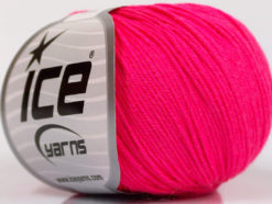 Lot of 4 Skeins Ice Yarns AMIGURUMI COTTON (60% Cotton) Yarn Neon Pink