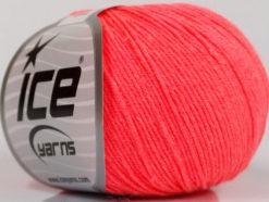Lot of 4 Skeins Ice Yarns AMIGURUMI COTTON (60% Cotton) Yarn Neon Salmon